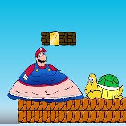 Жирный Марио играть