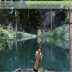 Играть в рыбалку на озере