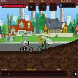 игры Том и Джерри гонки на велосипедах
