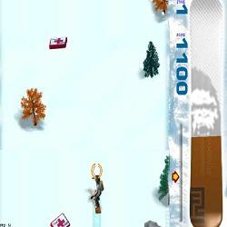Игра катание на сноуборде